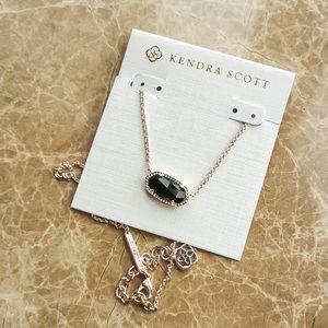 Kendra Scott Elisa gold black necklace